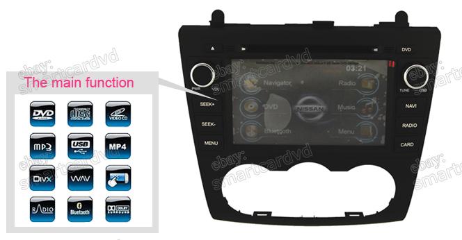 nissan altima 2008 2012 radio dvd gps navigation stereo auto radio multimedia ebay. Black Bedroom Furniture Sets. Home Design Ideas